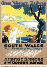 Vintage travel poster - South Wales